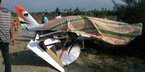 Pesawat yang Dipiloti Gubernur Aceh Rusak di Udara, Kedua Sayap Patah Saat Mendarat Darurat