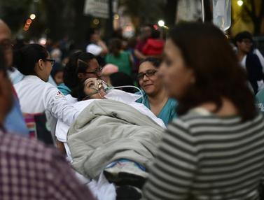 Gempa Dahsyat 7,2 SR Guncang Meksiko, Ribuan Warga Berhamburan Ketakutan