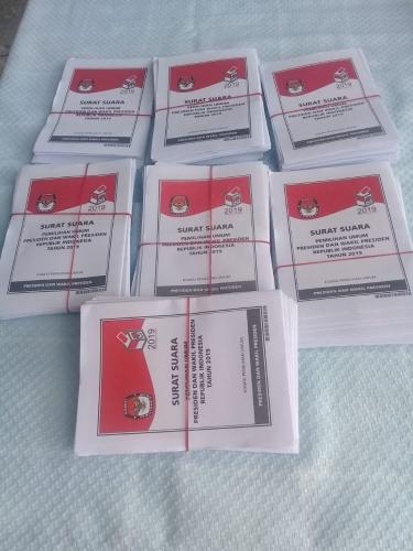 TPS 005 Kelurahan Bencah Lesung Pekanbaru Kekurangan Surat Suara Pemilihan Presiden Sebanyak 96 Lembar