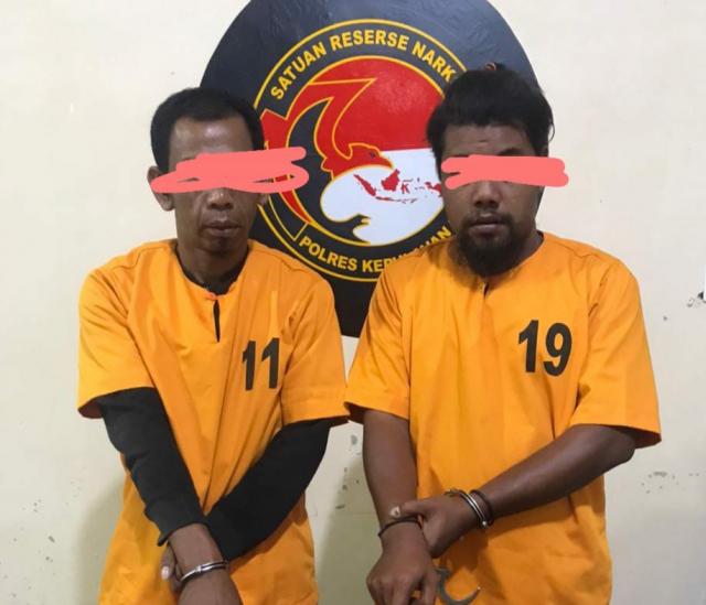Dua Warga Mengkopot Ditangkap di Selatpanjang