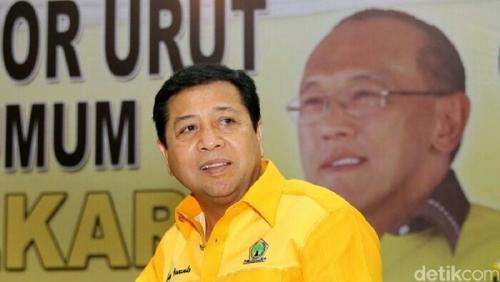 Akom Mengaku Kalah, Setya Novanto Jadi Ketua Umum Golkar