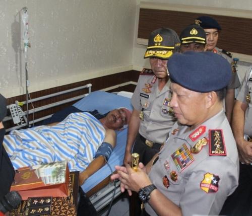 Terluka saat Hadang Serangan Terduga Teroris, 2 Polisi Polda Riau Diberi Kenaikan Pangkat Luar Biasa oleh Kapolri