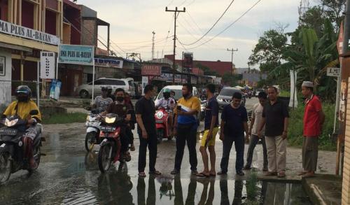 Dinas PU Pelalawan Didesak Perbaiki Drainase di Jalan Pemda Pangkalan Kerinci Kota