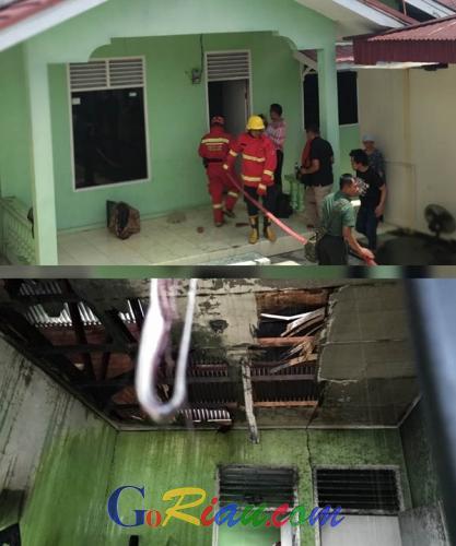 Kebakaran di Siang Bolong Nyaris Hanguskan Rumah Kontrakan di Limapuluh Pekanbaru