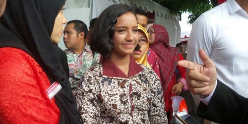 Gagal Jadi Paskibraka, Gloria Tetap Tersenyum Manis Saat Hadir di Istana Merdeka