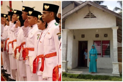 Bermodal Sepatu Pinjaman yang Sudah Robek, Anak Kampar Riau Ini ke Istana Negara Mengibarkan Bendera Pusaka