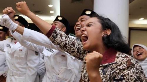 Gagal Ikut Kibarkan Bendera Pusaka, Gloria Dipercaya Kibarkan Bendera PON Jawa Barat
