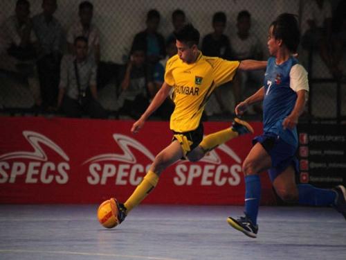 Muhammad Sanjaya, Bintang Futsal Sumbar Jadi Atlet Termuda di PON Jabar 2016 dan Sudah Kemas Dua Gol