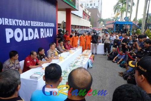 62 Kilogram Sabu-sabu Asal Malaysia Diamankan di Riau, Ini Penjelasannya