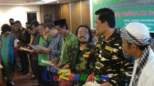 Pertama Kalinya, Lintas Agama di Riau Berkumpul Menyanyikan Lagu Perjuangan untuk Peringati Hari Toleransi Sedunia