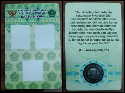 Beredar Foto Kartu Nikah Poligami, Begini Penjelasan Kemenag