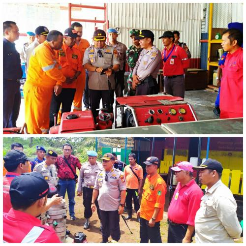 Antisipasi Karhutla, Kapolres Tinjau Sarana Prasarana Dua Perusahaan di Kepulauan Meranti