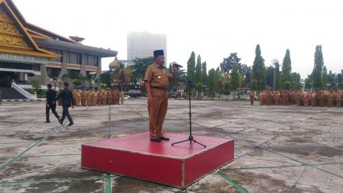 Nasehat Apel Terakhir, Wan Thamrin: Siapapun Gubernurnya ASN Diminta Tetap Disiplin