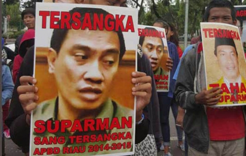 Pemuda Riau Kembali Berdemo Minta Kemendagri Usut Kasus Bupati Rohul Terpilih