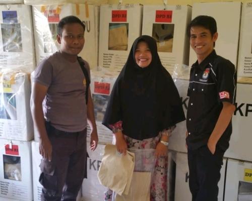 KPPS Lembur, Pemilu di Kuansing Berjalan Aman dan Lancar