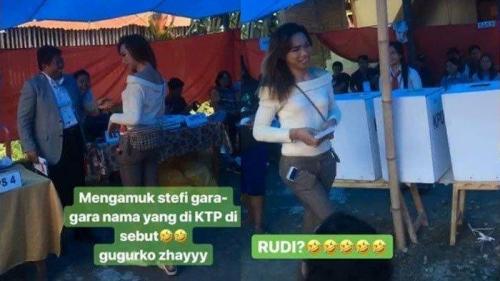 Lucu, Dipanggil Petugas TPS Rudi, yang Mencoblos Malah Stefi