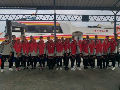 Praktek Kerja Lapangan, SMK Ankasa Inhil Berangkatkan 38 Siswa ke Batam dan Tanjung Pinang