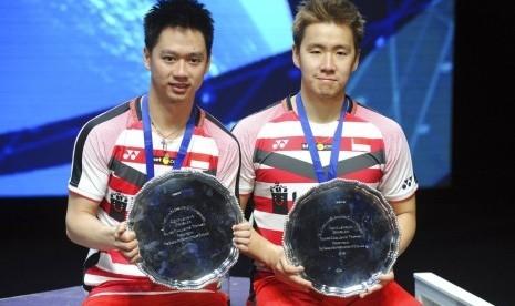 Pertahankan Gelar Juara All England, Kevin/Marcus Sejajarkan Diri dengan Legenda Bulutangkis Indonesia