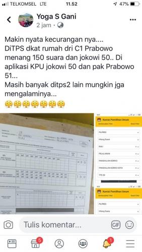 Ada Dua TPS di Riau yang Input Suara Pilpresnya Error