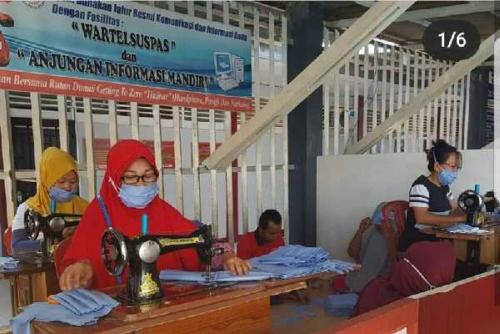 Setiap Hari, Warga Binaan Lapas dan Rutan di Riau Produksi Ribuan APD Covid-19