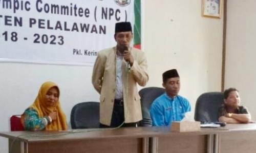 Lantik Pengurus NPC Pelalawan Periode 2018-2022, Jaya Kusuma Minta Jalankan Organisasi dengan Sistematis untuk Peningkatan Prestasi Atlet