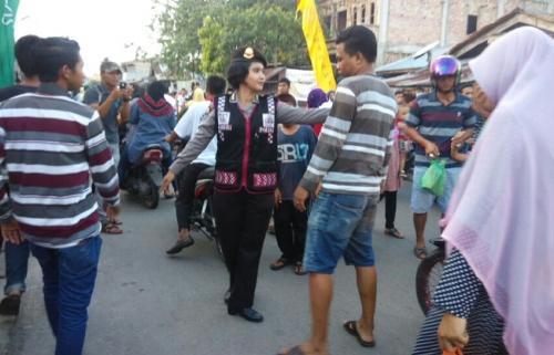 Waduh, Gara-gara Dijadikan Lokasi Baru Pasar Ramadan, Jalan Banglas Macet Parah