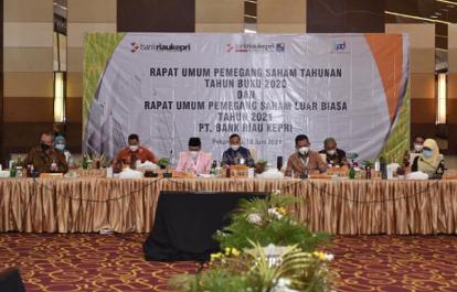 Bank Riau Kepri Sukses Gelar RUPS Tahunan Tahun Buku 2020 dan RUPSLB Tahun 2021, Laporan 2020 Disetujui