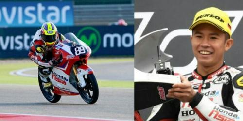 Juara Moto3 GP Jerman, Remaja Muslim Ini Lari dari Guyuran Minuman Keras