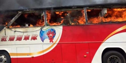 NGERINYA, 26 Orang Tewas Terpanggang Dalam Insiden Kebakaran Sebuah Bus Wisata