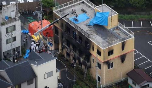 Studio Animasi Dibakar, 33 Orang Tewas dan Puluhan Cidera