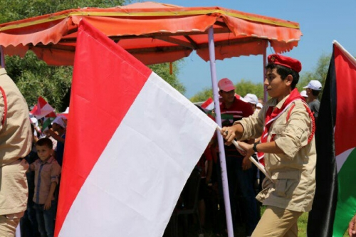 Ingin Merdeka Seperti Indonesia, Rakyat Palestina Kibarkan Bendera Merah Putih dan Kumandangkan Indonesia Raya di Gaza