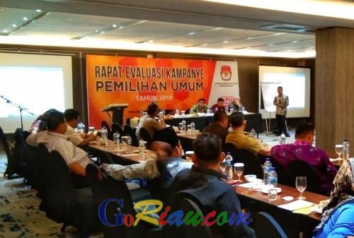 KPU Riau Evaluasi Fasilitasi Kampanye Pemilu 2019