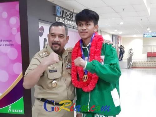 Anak Duri Juarai Gothia Cup 2019 di China, Kepulangan Alif Saviola Disambut Wagubri Edy Nasution