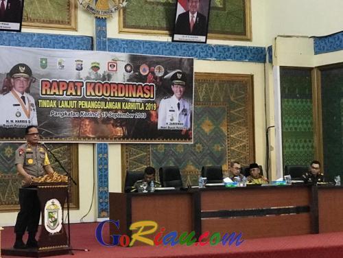 Jika Lahan yang Terbakar Ditanami, Kapolda Riau: Saya Tangkap dan Policeline