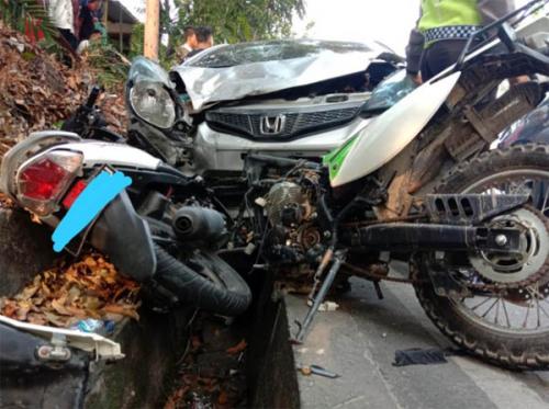 Diduga Mabuk Bersama Seorang Wanita, PNS Lapas Bangkinang Tabrak Dua Pemotor di Pekanbaru