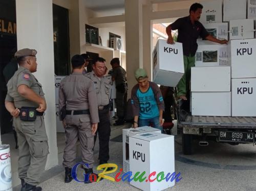 Pasca Pemilu 2019, Satpol PP Riau Masih Berjaga dan Patroli 24 Jam di Kecamatan Kota Pekanbaru