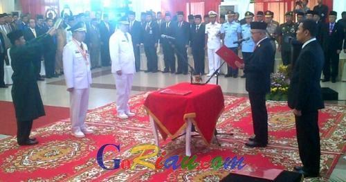 Pasangan Harmonis Syamsuar-Alfedri Sah Dilantik Pimpin Siak, Ini Catatan Prestasinya..