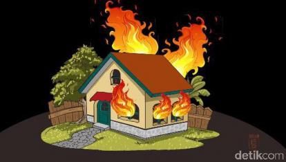 Tak Bisa Selamatkan Diri Saat Rumahnya Terbakar, Ibu di Kuansing Ini Peluk Erat Sang Anak