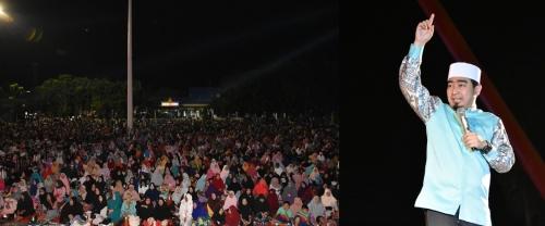 Ribuan Masyarakat Bengkalis Hadiri Tabliq Akbar Ustaz Solmed