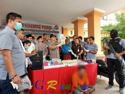 Bawa Narkotika Senilai Rp 15,6 Miliar, Oknum Wartawan Bengkalis Ditangkap Polres Siak