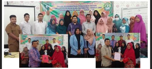 Tim Dosen FMIPA Unri Beri Pelatihan Penggunaan Software Maple Bagi Guru Matematika di Pelalawan