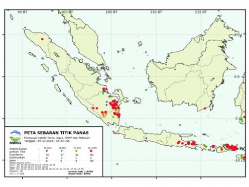 Pagi Ini, Hotspot di Riau 1 Titik dan Sumsel Masih Berasap