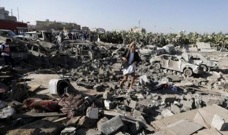 Serangan Udara Koalisi Saudi Bunuh 136 Warga Yaman