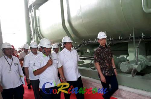 Berlokasi di Pelalawan, Menperin Tinjau Pabrik Rayon Terintegrasi Terbesar Indonesia
