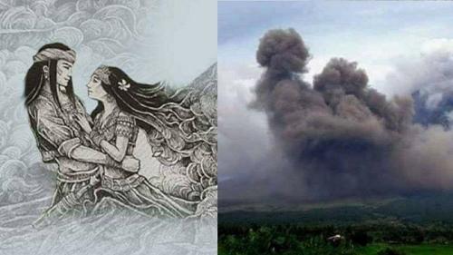 Gunung Mayon Meletus, Abu Vulkanik Semburannya Seperti Sepasang Kekasih Berpelukan, Mengingatkan pada Kisah Cinta Pangaronon-Magayon