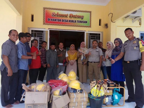 Aktif Cegah Karlahut, PT PMBN Gulirkan Bantuan untuk Desa