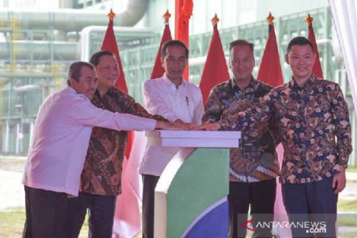Resmikan Pabrik Rayon di Pelalawan Riau, Presiden Jokowi Kagum APR Bisa Olah Serat Kayu Jadi Kain