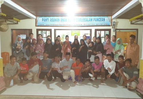 Jelang Ramadan, Komunitas EDRG Kuansing Santuni Anak Yatim