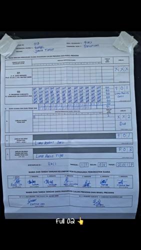 Prabowo Peroleh 506 Suara di TPS 016 Bangil, Sempat Diragukan Kawalpemilu, Ternyata Valid