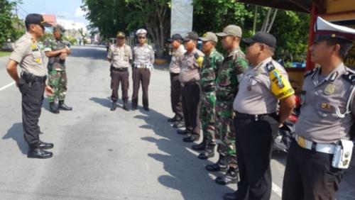 TNI dan Polri di Kepulauan Meranti Gelar Patroli Gabungan
